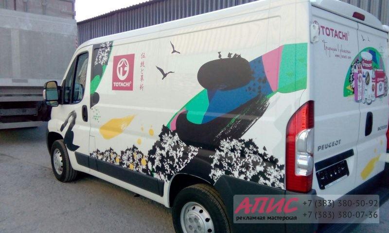 Брендирование корпоративного фургона представителя масел TOTACHI