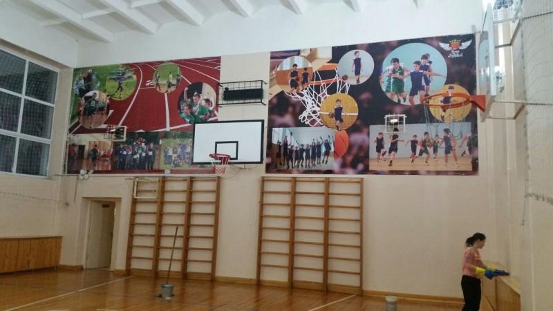 баннеры для школьного спортзала