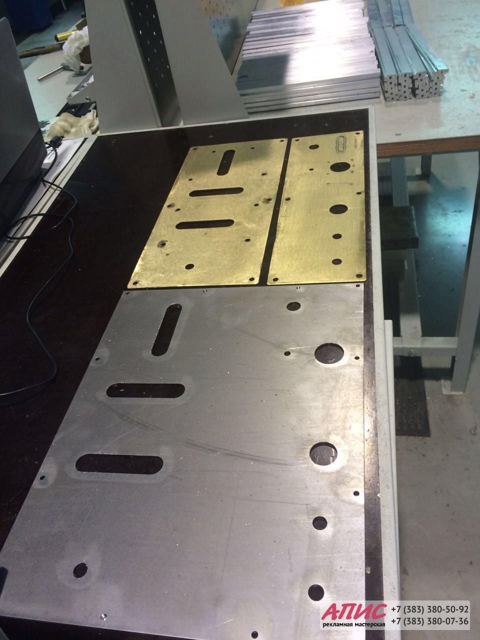 изготовление панели для верхнего пульта управления вышки