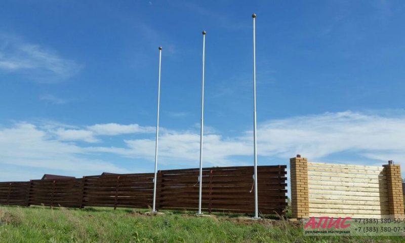 Установка флагштоков дачный поселок Экопарк