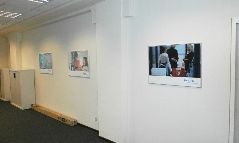 Интерьерная печать для офиса компании Philips