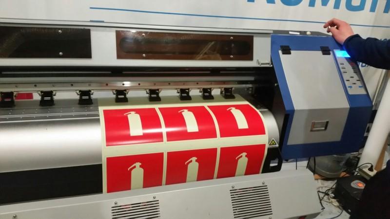 печать наклеек пожарной безопасности