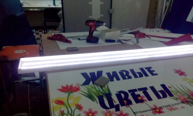 световой короб Живые цветы 1