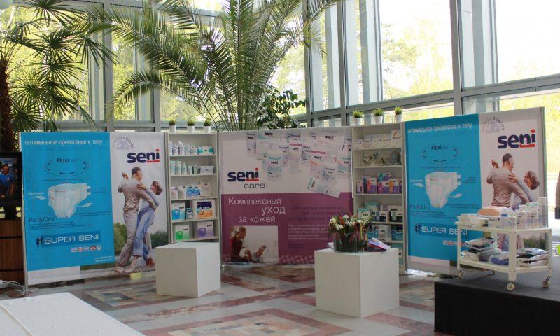 Бренд волл для презентации прдукции торговой марки Seni